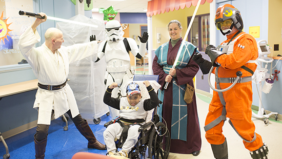 Star Wars characters visiting in The Zone of our CPAR unit.